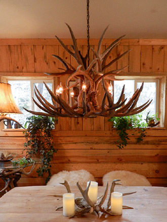 Authentic whitetail mule deer antler chandelier ragged mountain our extremely popular custom centerpiece antler chandelier using large mule deer antlers mule deer make up the bulk of this impressive not wimpy aloadofball Choice Image